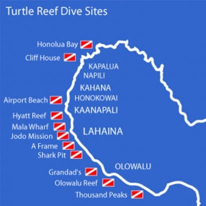 Lahaina Divers - Scuba Diving In Maui (Map)