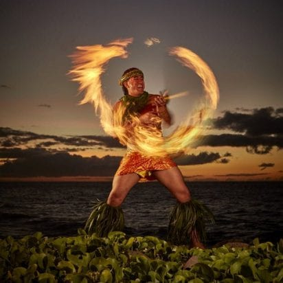 Marriott Te Au Moana Luau - Regular Seating (Fire Dancer)