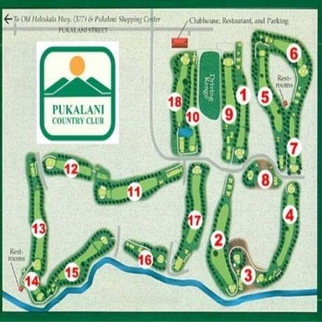 Pukalani Golf Club (Course Map)