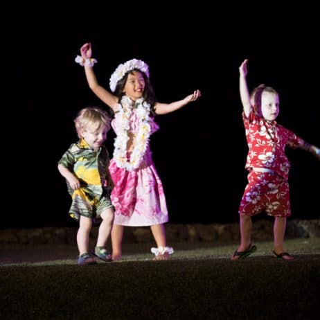 Luau dancing kids 135