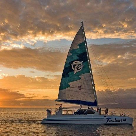 Maui Teralani ocean sunset sail 232