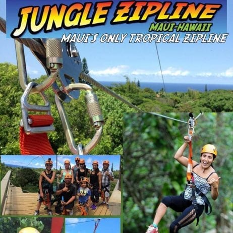 Jungle Zipline Maui Hawaii - 2756