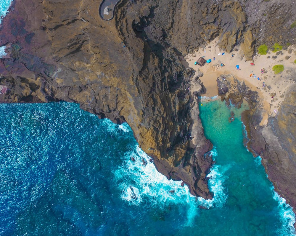 Aerial shot of the sea cliffs - 2133