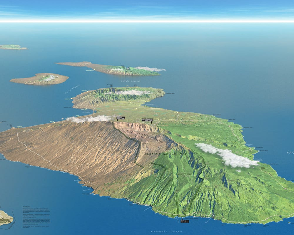 Maui Haleakala Map - 2136