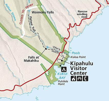 Map of Pipiwai Trail
