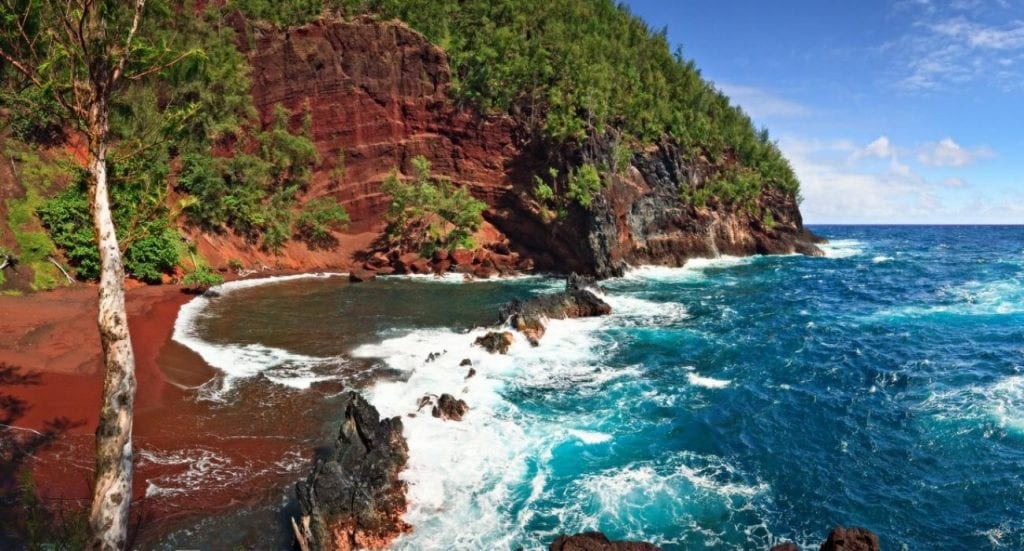 The Mysterious Red Sand Beach